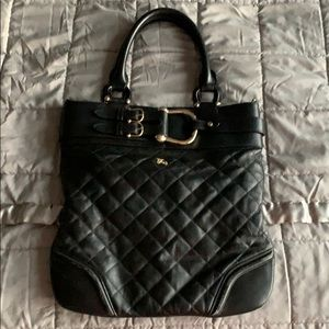 Burberry black bag with gold details